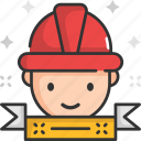 carpenter, construction, construction worker, helmet, man icon