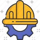 construction, construction worker, engineer, helmet, worker icon