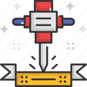 construction, drill, driller, maintenance, tools icon