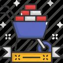 cart, construction, trolley, wheelbarrow icon