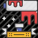 construction, paint, paint roller, painter, roller, roller brush icon