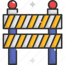 block, blocked, no entry, road barrier, road sign, signaling icon