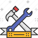 construction, construction tool, hammer, repair, tools, wrench icon