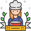 chef, cook, cooking, job, woman icon