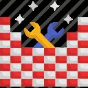 brick wall, bricks, brickwork, construction, masonry, under construction icon