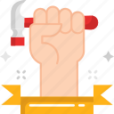 hammer, hand, mechanic, repair icon