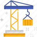 construction, crane, lift, shipping, shipping and delivery icon