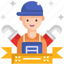 handyman, labor day, plumber, repair, water, worker icon