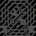 event, invitation, labor day, repair, tools icon