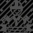 blueprint, construction, design, engineer, worker icon