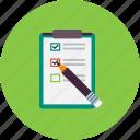 check, checklist, document, laboratory, list, research, to do