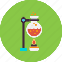 candle, experiment, flame, flask, heat, lab, laboratory