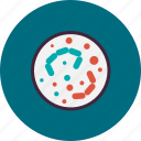 bactery, experiment, laboratory, micro, organism, science, virus icon