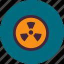 alert, radiation, chemistry, danger, experiment, sign, laboratory icon