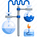 bunsen, burner, chemical, chemistry, experiments, flask, science icon