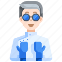 avatar, job, man, profile, science, scientist, user icon