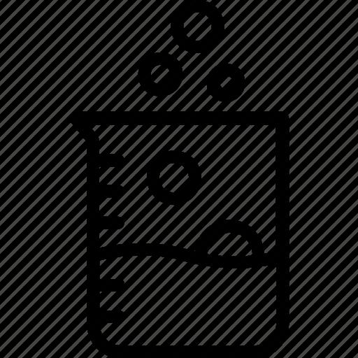 beaker, chemical beaker, chemistry lab, glass beaker, scientific research icon