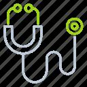 care, laboratory equipment, stethoscope, phonendoscope, doctor icon