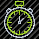 timepiece, schedule, chronometer, laboratory equipment, stopwatch, speed icon