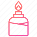 alcohol, bottle, burner, flame, laboratory equipment icon
