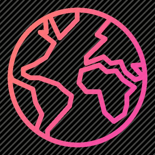 earth, globe, international, laboratory equipment icon