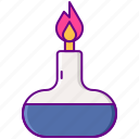 alcohol, burner, laboratory, science icon