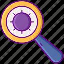 laboratory, magnifier, search