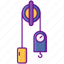 laboratory, pulley, science icon