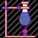 laboratory, retort, stand