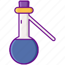 flask, laboratory, science, sidearm icon