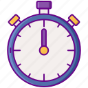 laboratory, stopwatch, timer icon