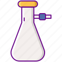 flask, laboratory, suction icon