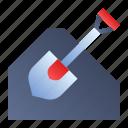 scoop, shovel, spade, trowel icon