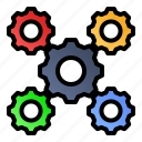 cogwheels, gears, labor day, settings icon