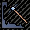 gardening, hoe, mining, tools icon