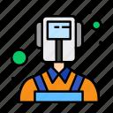 man, professions, welder icon