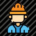 labourday, engineer, worker, construction, avatar, man