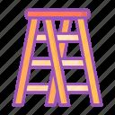 stepladder, construction, ladder, climb