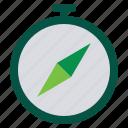 compass, explore, location icon