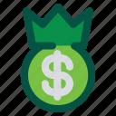 crown, dollar, king, kingdom, money