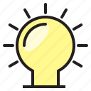bright, bulb, electronic, light icon