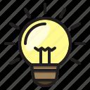 bulb, light, bright, electronic