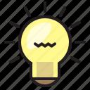 bright, bulb, electronic, light icon