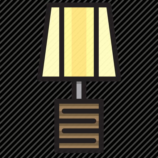 bright, lamp, light, table icon