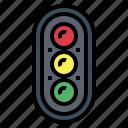 light, road, sign, signal, stop, traffic, transportation icon