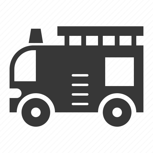 fire truck, traffic, transport, vehicle icon
