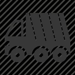 garbage truck, traffic, transport, vehicle icon