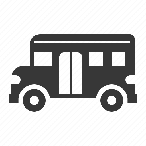 bus, school bus, traffic, transport, vehicle icon
