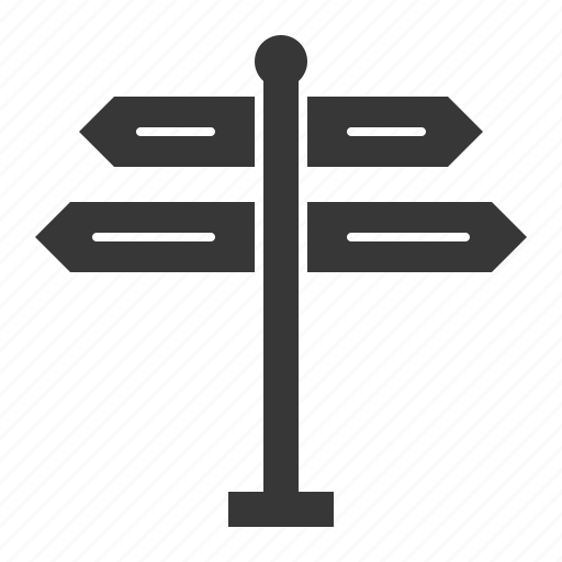 guidepost, road signs, sign, transport icon