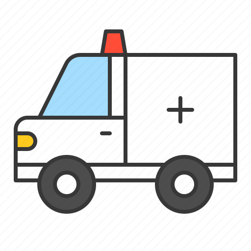 ambulance, car, traffic, transport, vehicle icon